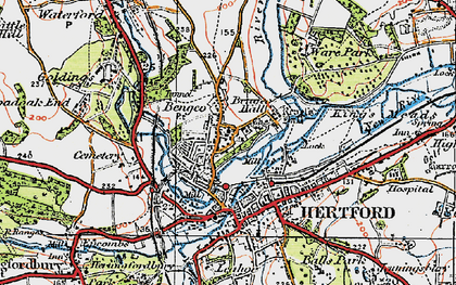 Old map of Bengeo in 1919
