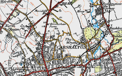 Old map of Benhilton in 1920