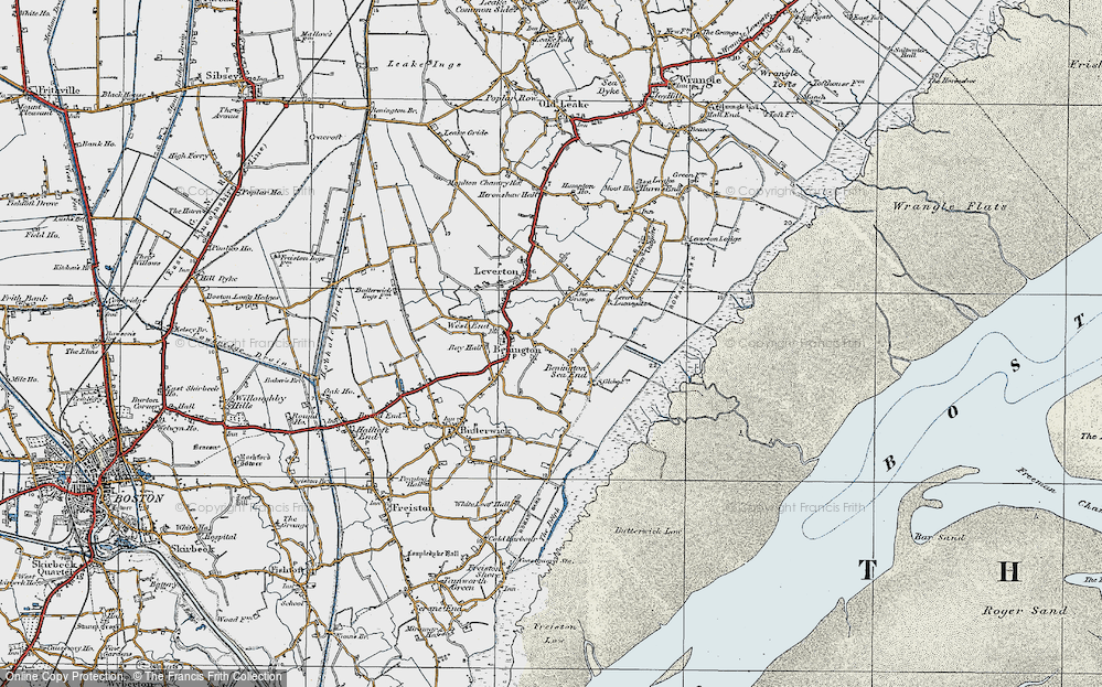Old Map of Benington Sea End, 1922 in 1922