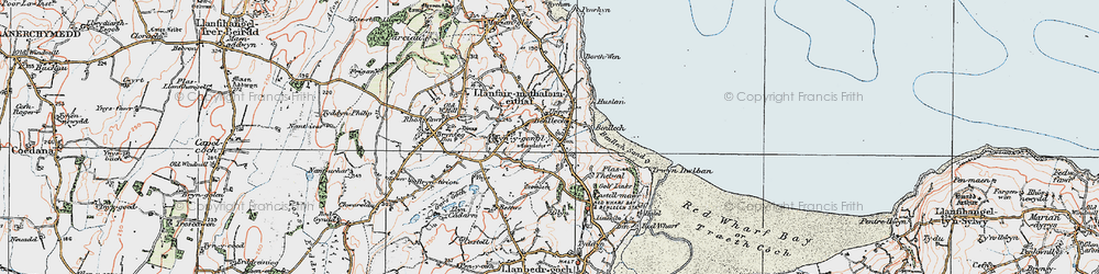 Old map of Benllech in 1922