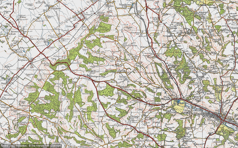 Old Map of Bennett End, 1919 in 1919