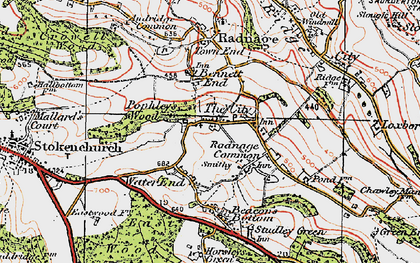 Old map of Bennett End in 1919