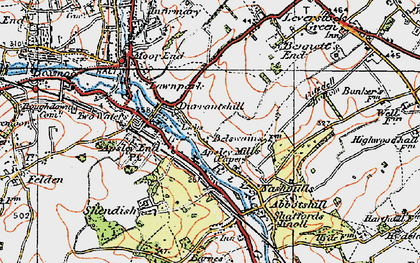 Old map of Bennetts End in 1920