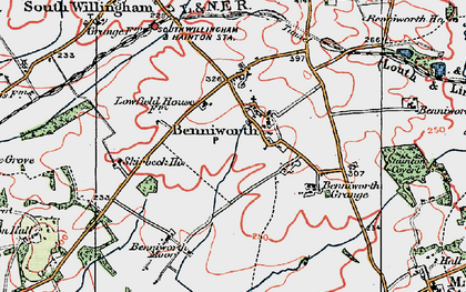 Old map of Benniworth in 1923