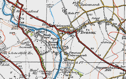 Old map of Benson in 1919