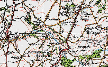 Old map of Benter in 1919