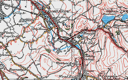 Old map of Bentgate in 1924