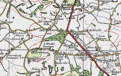 Old map of Ashwells in 1920
