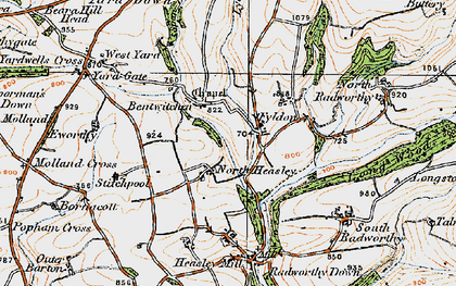 Old map of West Yarde in 1919