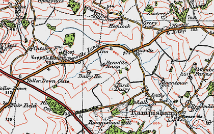 Old map of Yard Dairy in 1919