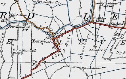 Old map of Lilly Holt in 1920