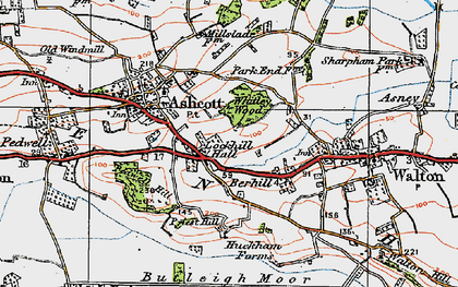 Old map of Berhill in 1919