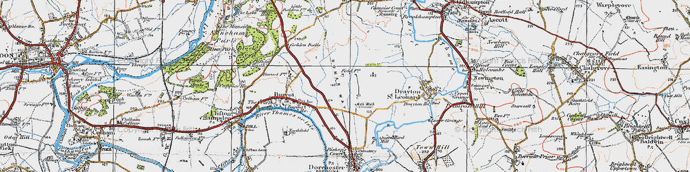 Old map of Berinsfield in 1919