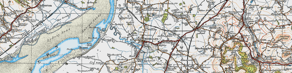 Old map of Wickselm in 1919