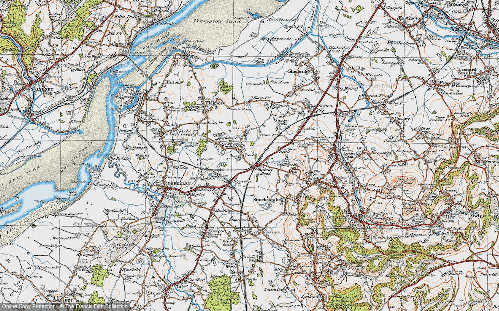 Old Map of Berkeley Road, 1919 in 1919