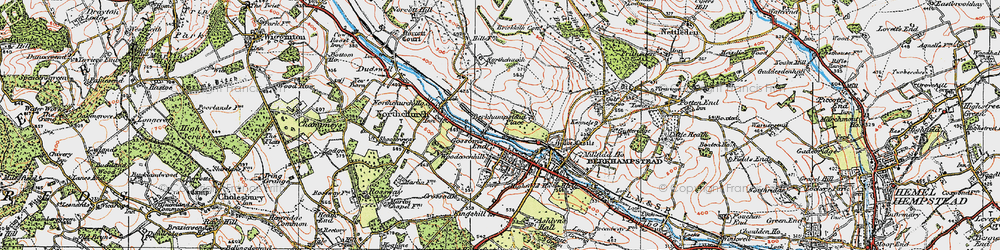 Old map of Berkhamsted in 1920