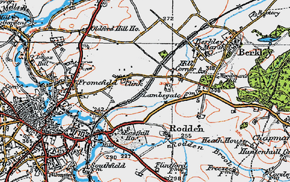 Old map of Berkley Down in 1919
