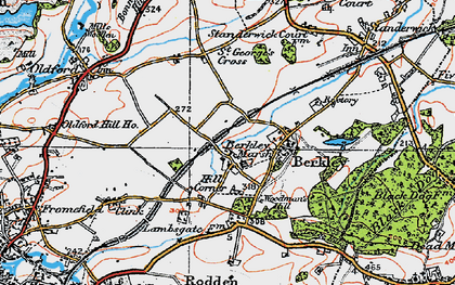 Old map of Berkley Marsh in 1919