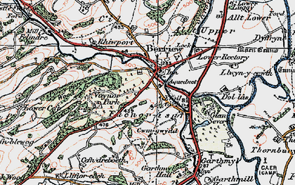 Old map of Berriew in 1921