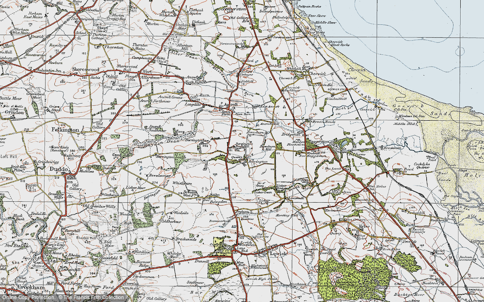 Old Map of Historic Map covering Lickar Dean in 1926