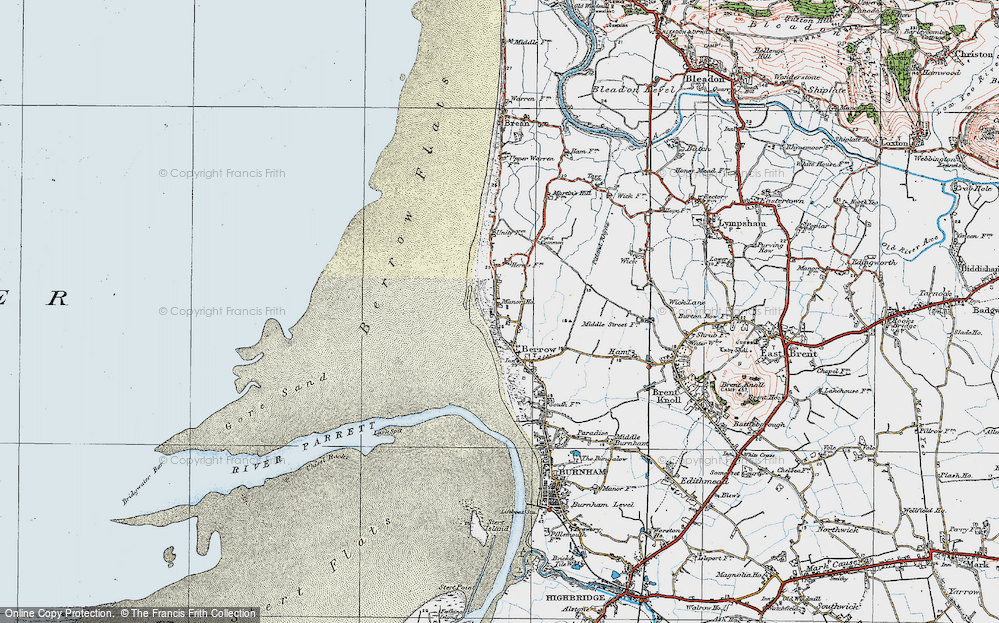 Old Map of Historic Map covering Lark Spit in 1919