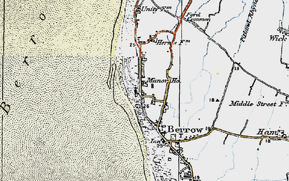Old map of Berrow in 1919