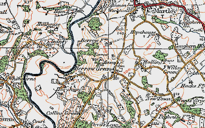 Old map of Worcestershire Way in 1920