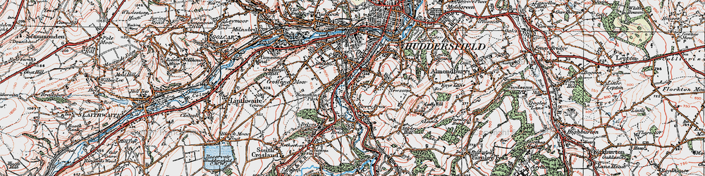 Old map of Berry Brow in 1925