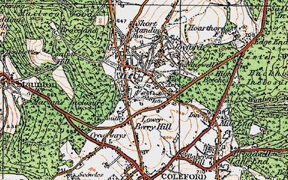 Old map of Berry Hill in 1919