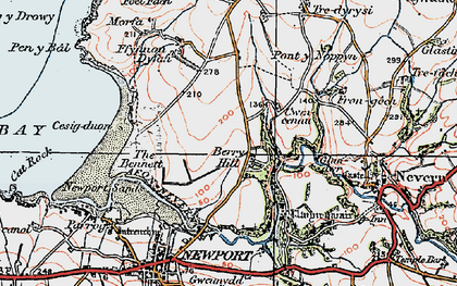 Old map of Berry Hill in 1923