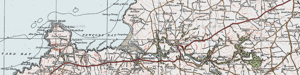 Old map of Wynston in 1923