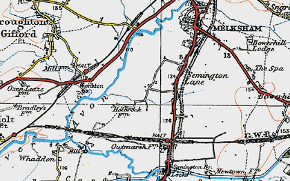 Old map of Berryfield in 1919