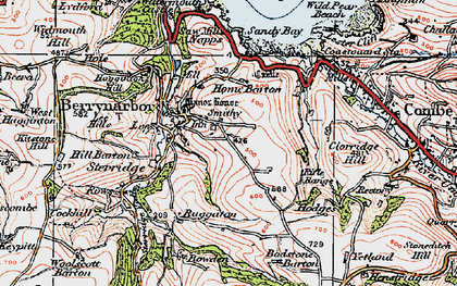Old map of Berrynarbor in 1919