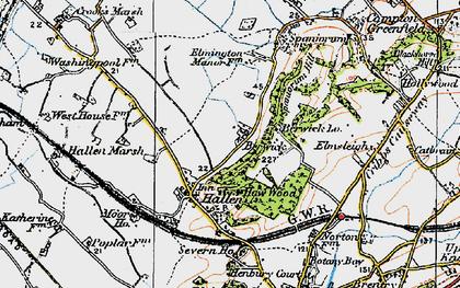 Old map of Berwick in 1919