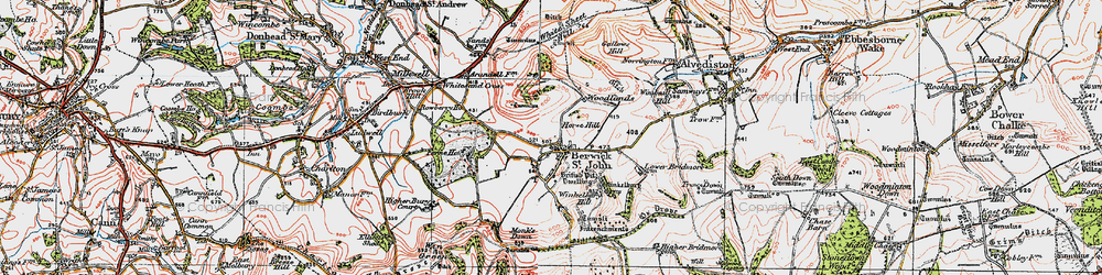 Old map of Winkelbury in 1919