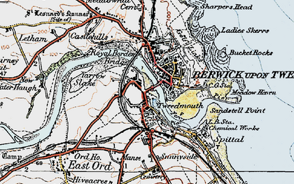 Old map of Yarrow Slake in 1926