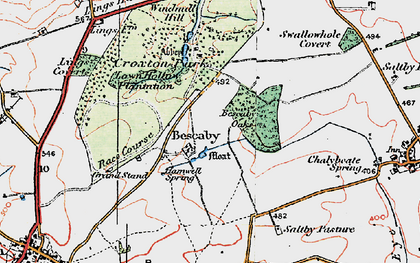 Old map of Bescaby in 1921