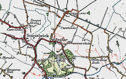 Old map of Bescar in 1923