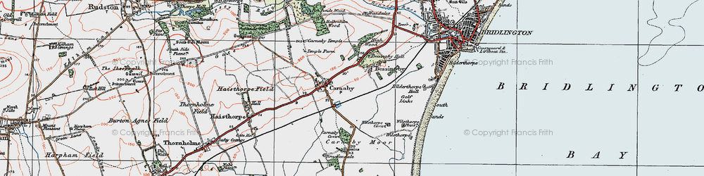 Old map of Bessingby in 1924