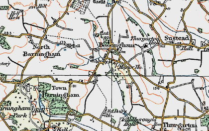 Old map of Aldborough Hall in 1922