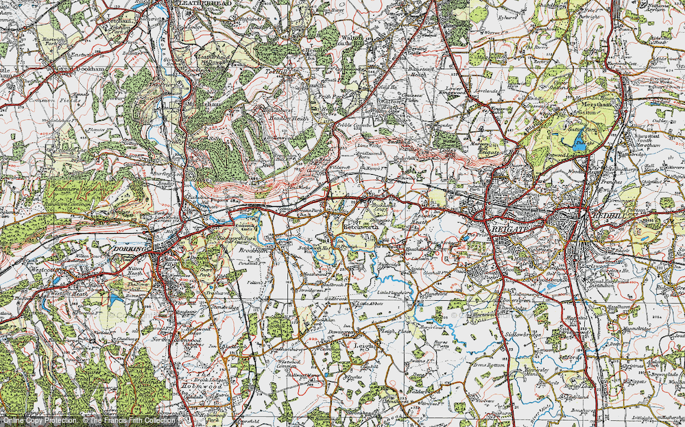 Old Map of Betchworth, 1920 in 1920