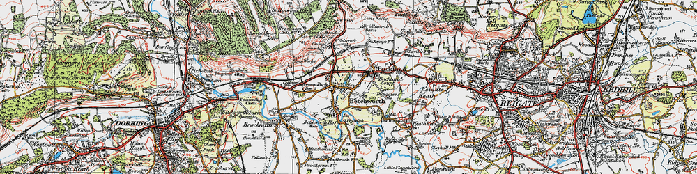 Old map of Wildecroft in 1920