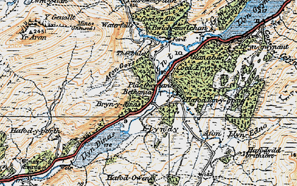Old map of Afon Gorsen in 1922