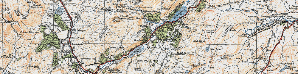 Old map of Afon Gorsen in 1922