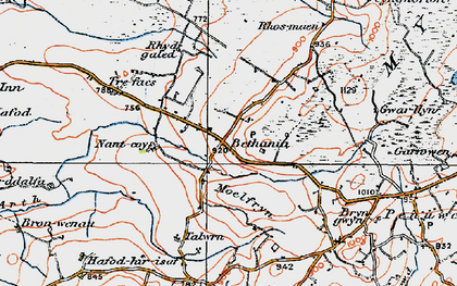 Old map of Bethania in 1923
