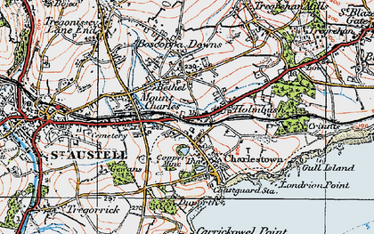Old map of Bethel in 1919