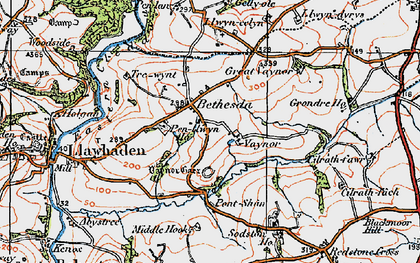 Old map of Bethesda in 1922