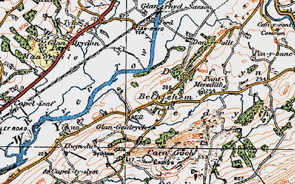 Old map of Bethlehem in 1923
