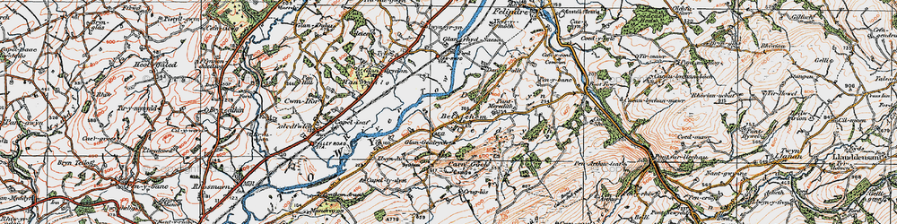 Old map of Y Caer fawr in 1923