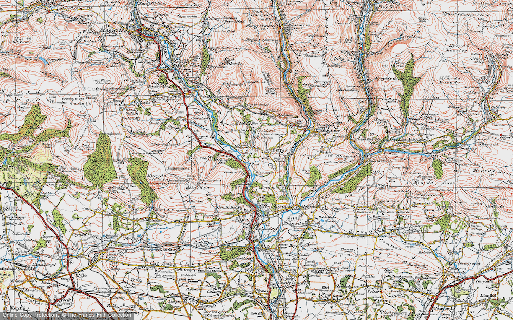 Old Map of Bettws, 1922 in 1922